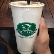 Peach milk tea