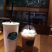 Socola trắng + phúc long tea latte