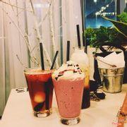 Trà vải dưa hấu. Berry berry. Latte hồng trà