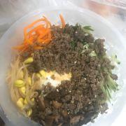 cơm trộn thịt bò