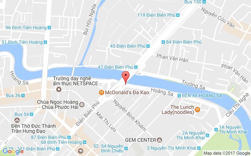 Vị trí bản đồ 1 Hoàng Sa, P. Đa Kao Quận 1 TP. HCM