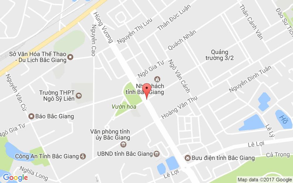 Vị trí bản đồ Khu Ẩm Thực Căng Tin Nhà Khách Tỉnh Bắc Giang Tp. Bắc Giang Bắc Giang