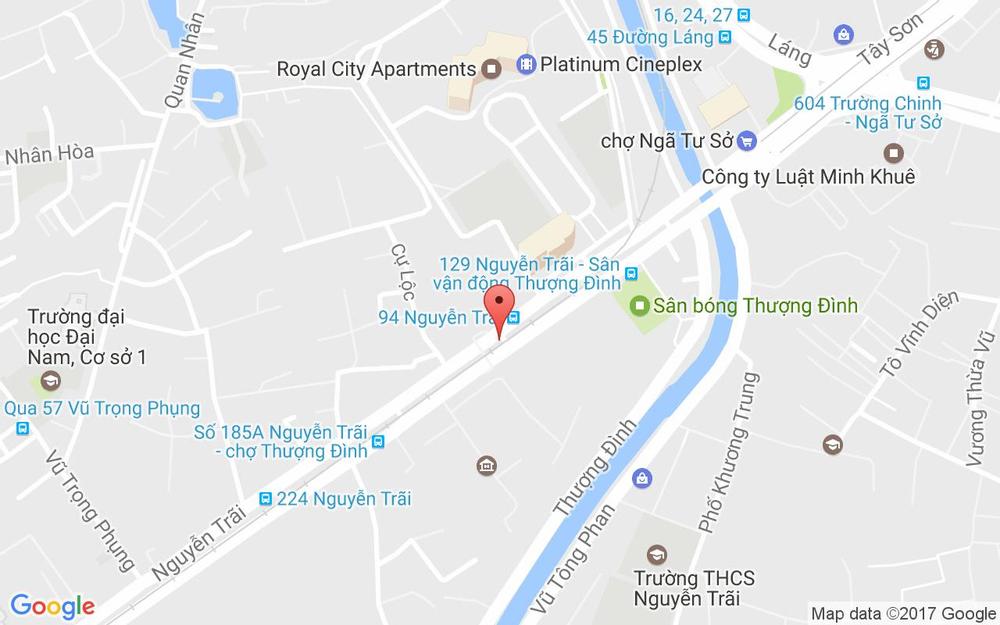 Vị trí bản đồ 129M Nguyễn Trãi Quận Thanh Xuân Hà Nội