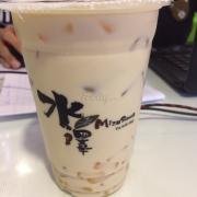 Trà sữa trà xanh thạch đào