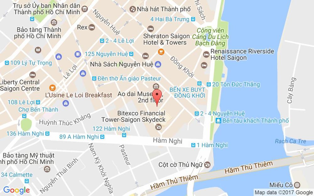 Vị trí bản đồ 76 Ngô Đức Kế, P. Bến Nghé Quận 1 TP. HCM