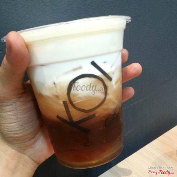 Black tea macchiato - Hồng trà macchiato (S)