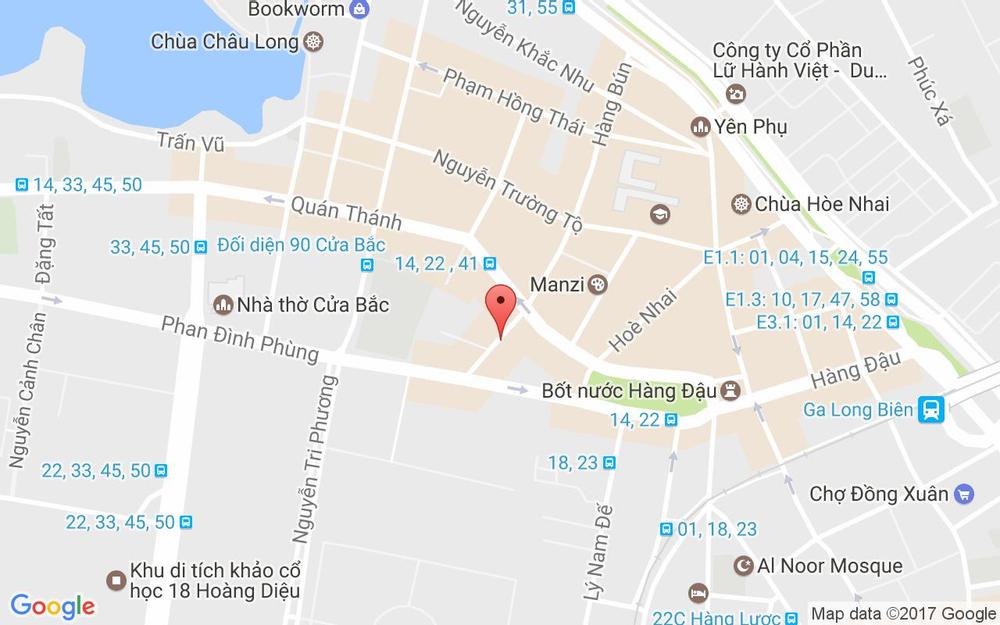 Vị trí bản đồ 63 Hàng Bún Quận Ba Đình Hà Nội