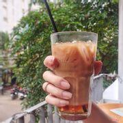 Latte cafe cam cháy
