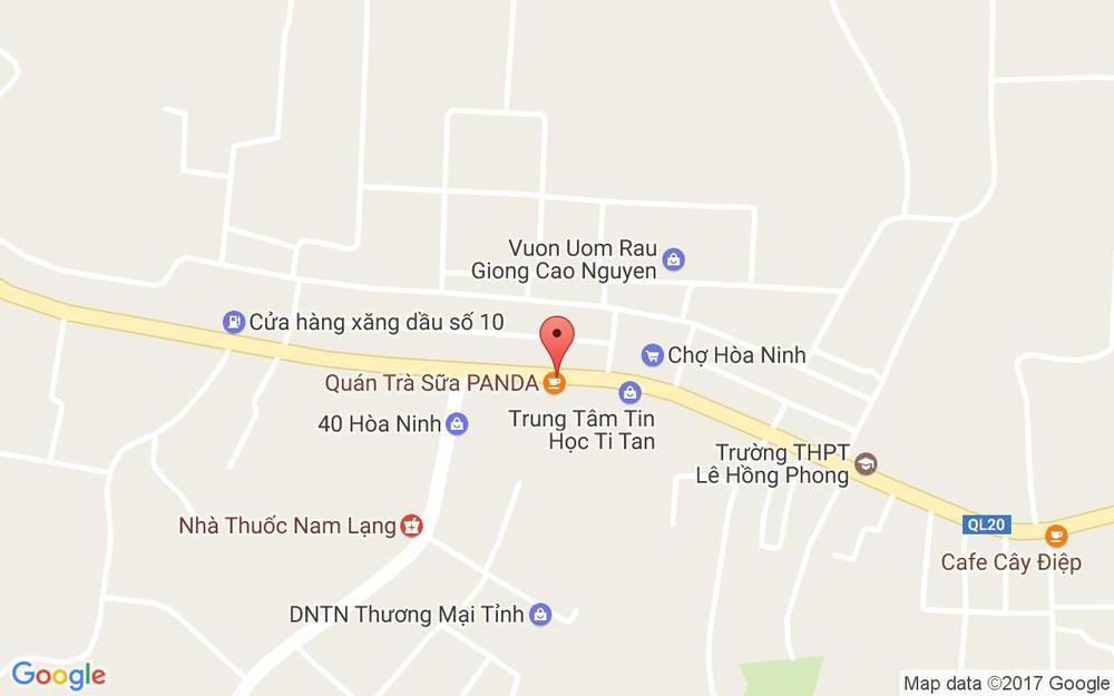 Vị trí bản đồ Trà Sữa Panda ở Lâm Đồng