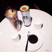 Iced latte & greentea