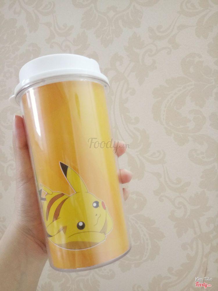Trà sữa truyền thống ly Pikachu