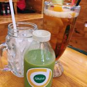 Trà đào & trà sữa thái xanh