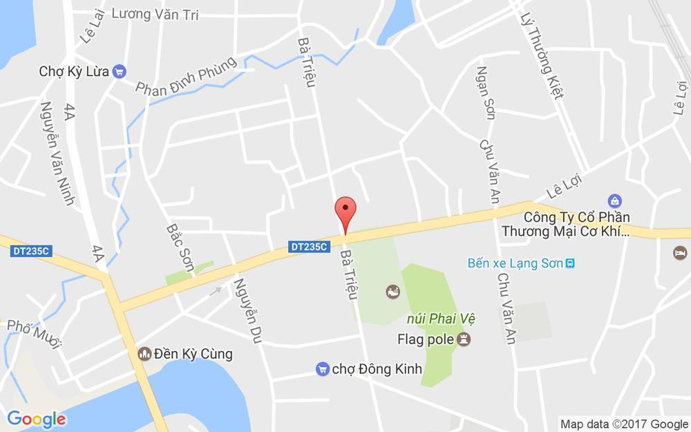 Vị trí bản đồ Bánh Mì Cô Nhạn ở Lạng Sơn