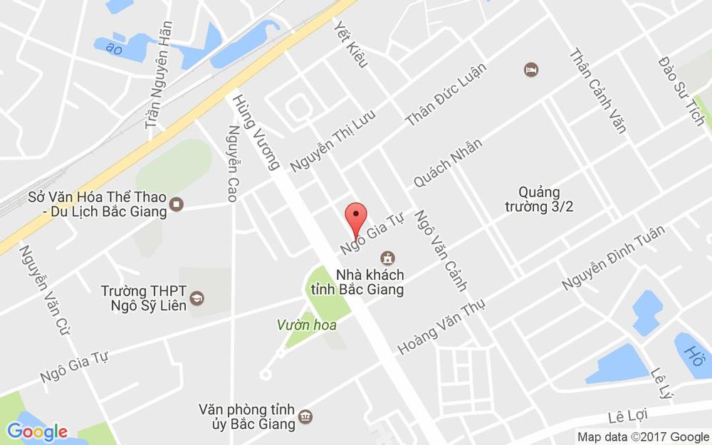 Vị trí bản đồ 141 Ngô Gia Tự Tp. Bắc Giang Bắc Giang