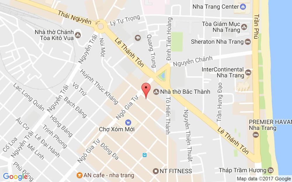 Vị trí bản đồ 42A Lê Quý Đôn Tp. Nha Trang Khánh Hoà