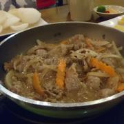 Thịt kèm theo khoai tây chiên khai vị