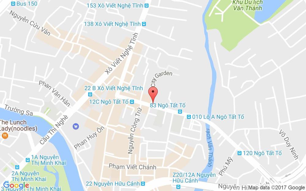 Vị trí bản đồ 69 Ngô Tất Tố, P. 21 Quận Bình Thạnh TP. HCM