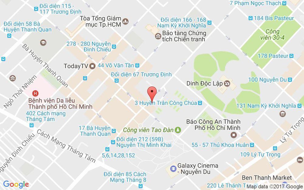 Vị trí bản đồ 55B Nguyễn Thị Minh Khai Quận 1 TP. HCM