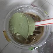Flan trà xanh