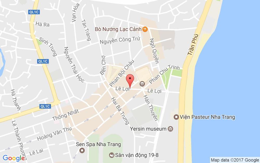 Vị trí bản đồ 21 Lê Lợi, Xương Huân Tp. Nha Trang Khánh Hoà