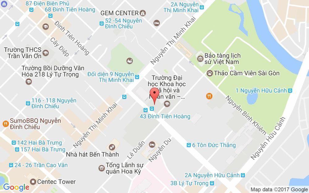 Vị trí bản đồ Trường Đại Học Khoa Học Xã Hội & Nhân Văn TPHCM ở TP. HCM