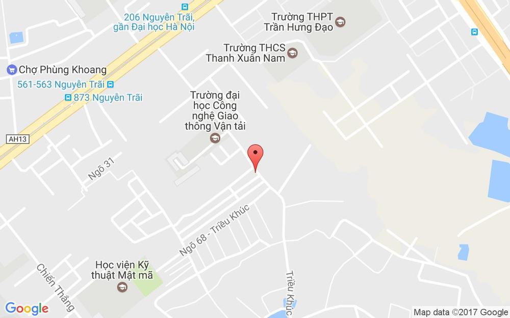 Vị trí bản đồ 66 Triều Khúc Quận Thanh Xuân Hà Nội