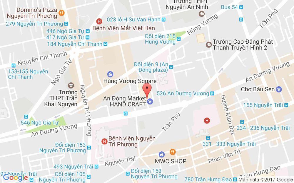 Vị trí bản đồ A74 - Tầng Hầm Chợ An Đông, An Dương Vương, P. 9 Quận 5 TP. HCM
