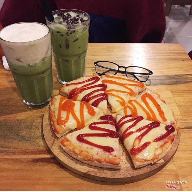 Matcha machiato, matcha đậu đỏ, pizza phomai