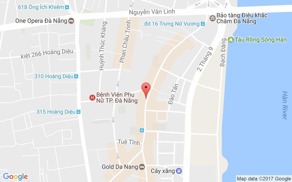 Vị trí bản đồ Lavender Spa - Trưng Nữ Vương ở Đà Nẵng