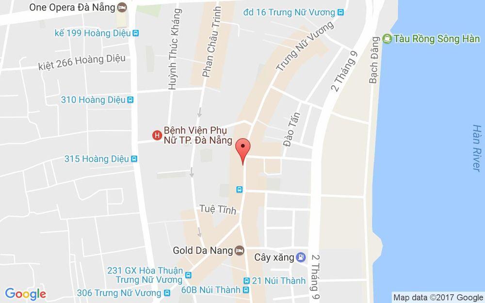 Vị trí bản đồ Trưng Nữ Vương, P. Bình Thuận Quận Hải Châu Đà Nẵng