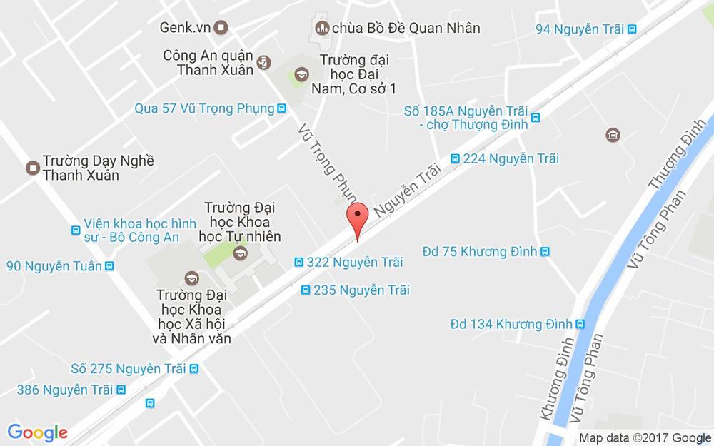 Vị trí bản đồ Ngõ 330 Nguyễn Trãi, P. Khương Trung Quận Thanh Xuân Hà Nội