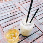 Trà sữa handmade bạc hà :)