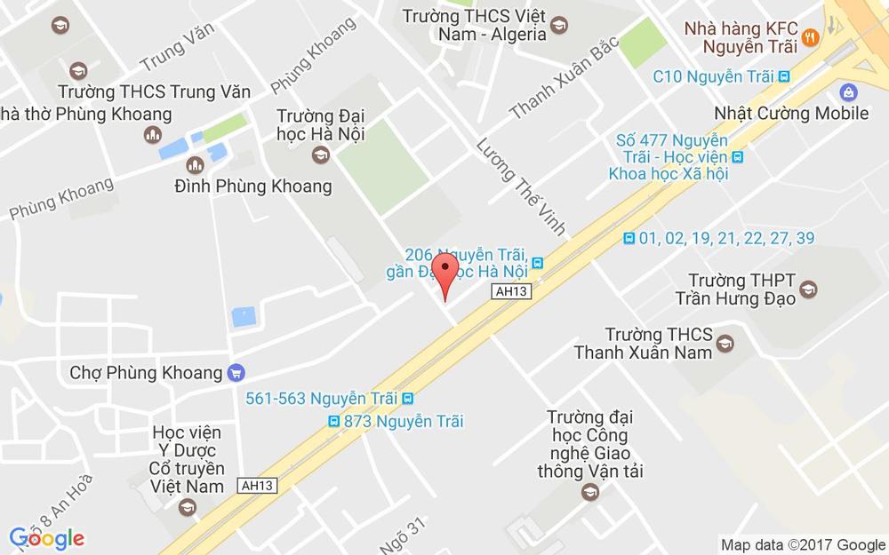 Vị trí bản đồ 2 Đại Học Hà Nội, Nguyễn Trãi Quận Thanh Xuân Hà Nội
