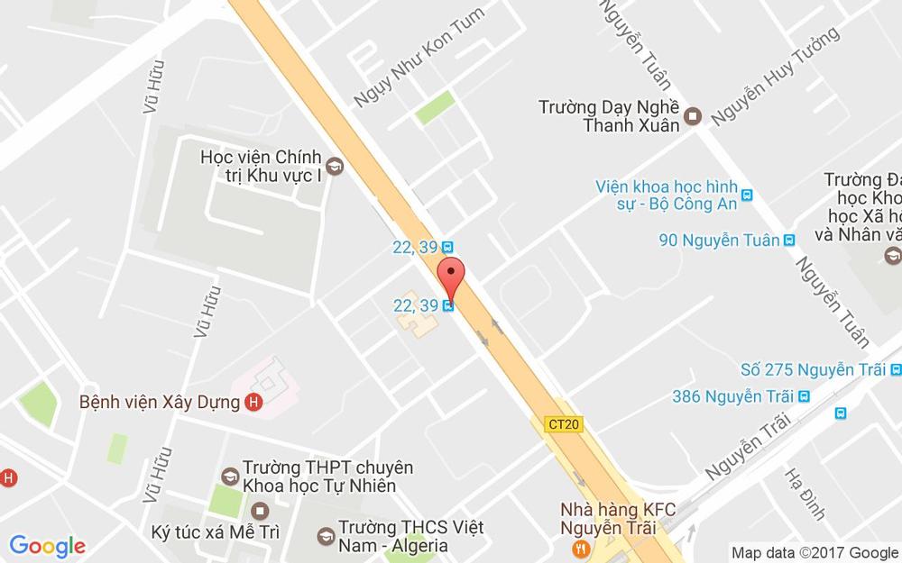 Vị trí bản đồ 83 Khuất Duy Tiến Quận Thanh Xuân Hà Nội