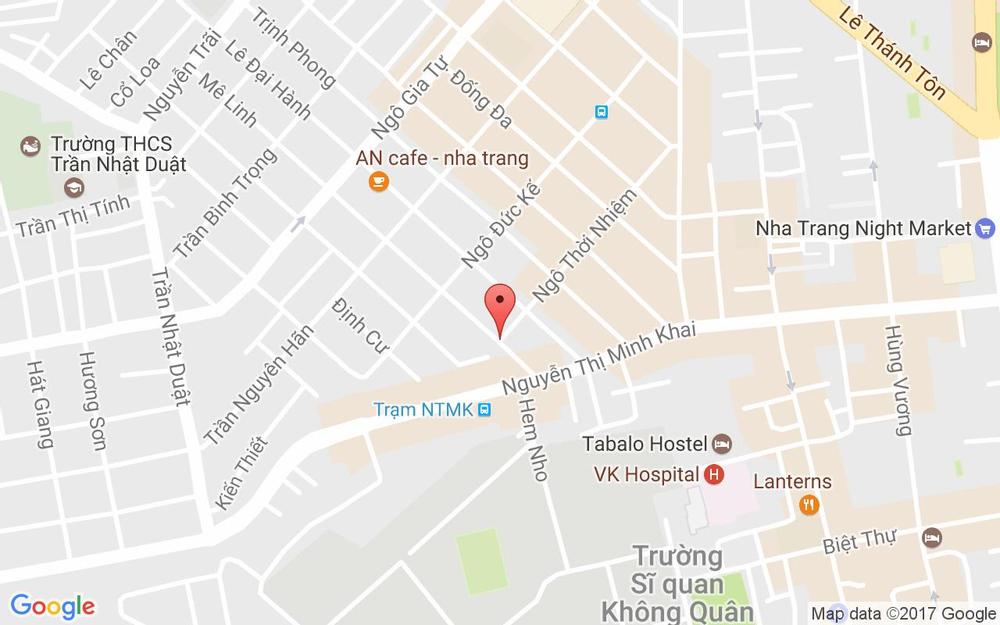 Vị trí bản đồ Ngã 3 Ngô Thời Nhiệm - Lê Minh Tp. Nha Trang Khánh Hoà