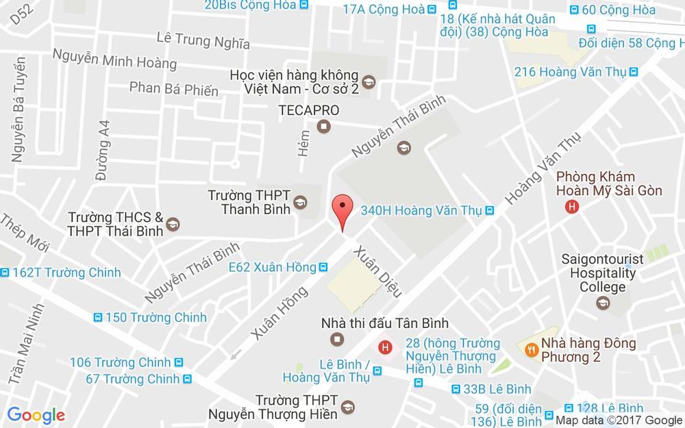 Vị trí bản đồ 64/19 Xuân Diệu, P. 4 Quận Tân Bình TP. HCM