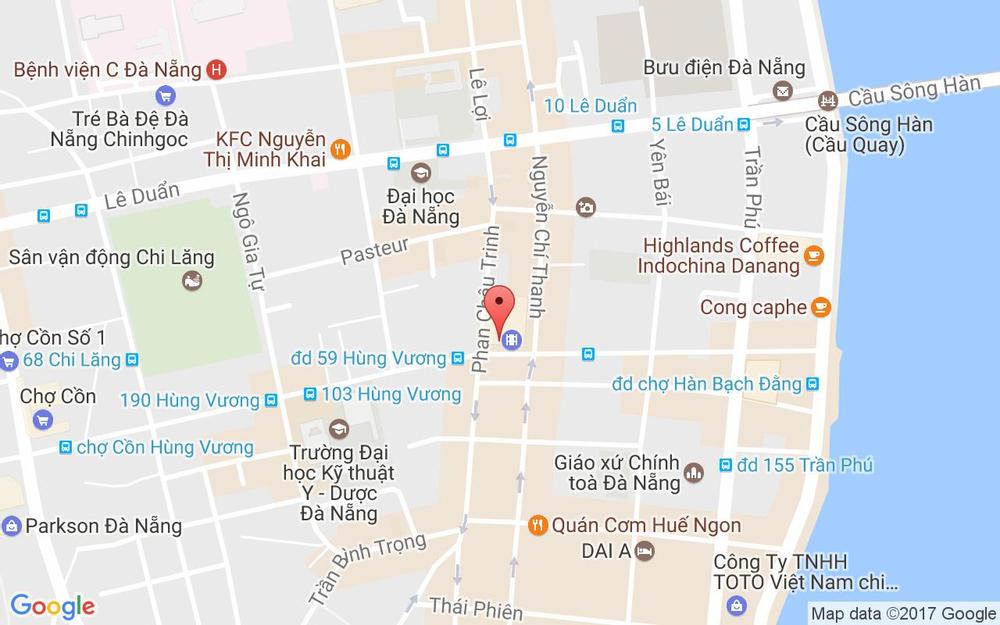 Vị trí bản đồ 86 Hùng Vương Quận Hải Châu Đà Nẵng