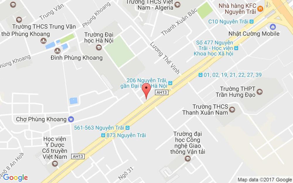 Vị trí bản đồ Đối Diện 292 Nguyễn Trãi Quận Thanh Xuân Hà Nội