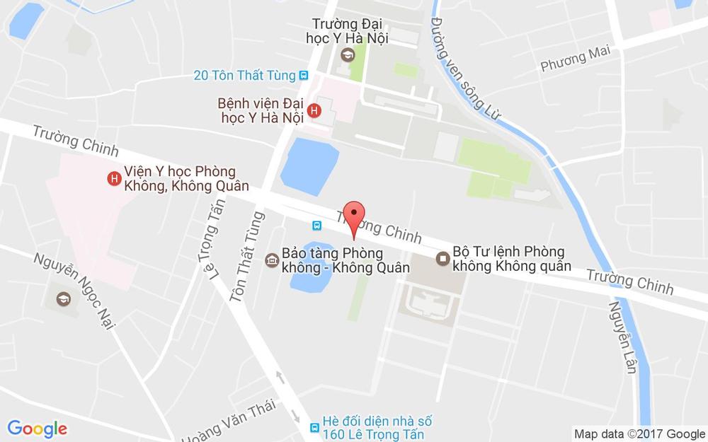 Vị trí bản đồ 173B Trường Chinh, P. Khương Mai Quận Thanh Xuân Hà Nội