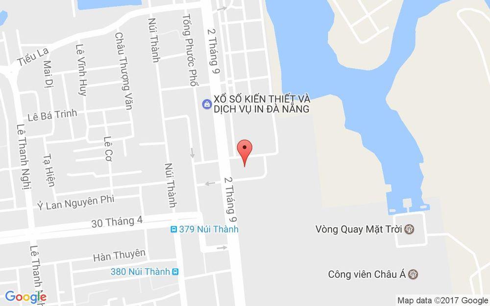 Vị trí bản đồ A6.5 Lô 1 - 2 - 3 Khu Công Viên Bắc Tượng Đài 2/9 Quận Hải Châu Đà Nẵng