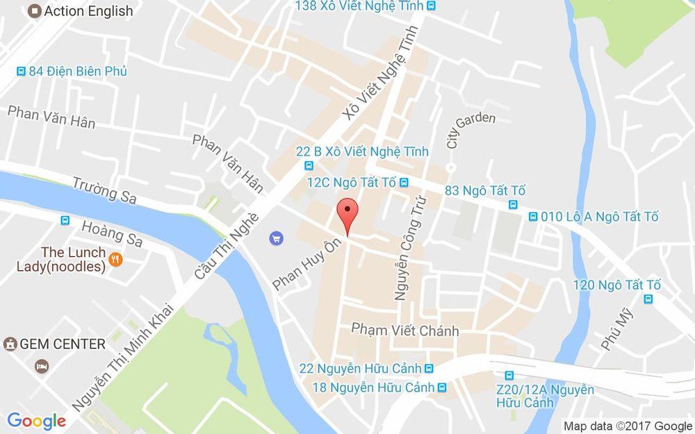 Vị trí bản đồ 1 Nguyễn Văn Lạc, P. 19 Quận Bình Thạnh TP. HCM
