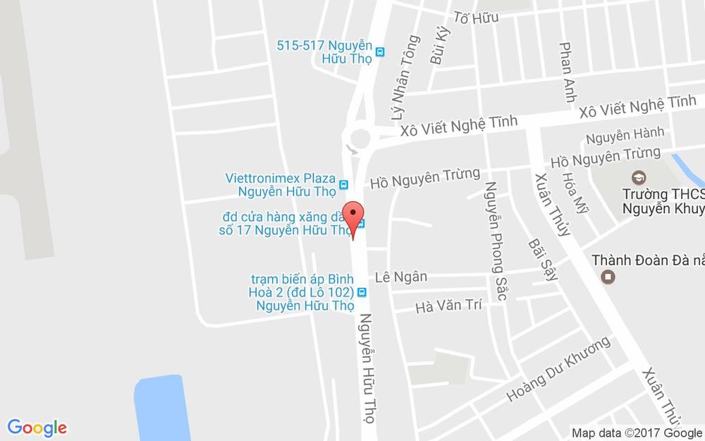 Vị trí bản đồ Lô 100c Nguyễn Hữu Thọ Quận Cẩm Lệ Đà Nẵng