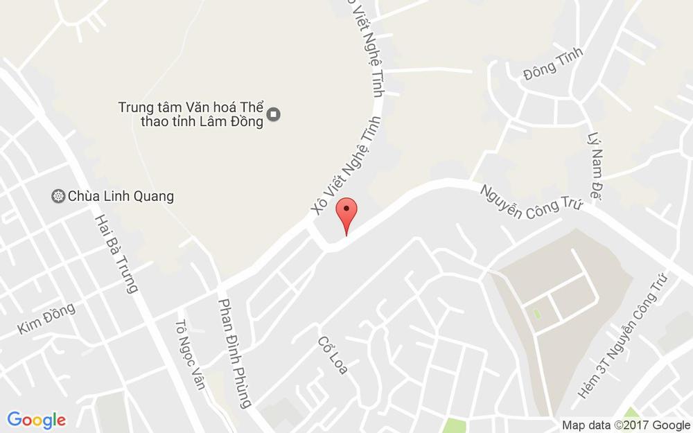 Vị trí bản đồ Vựa Dâu Nhung Nguyệt ở Lâm Đồng