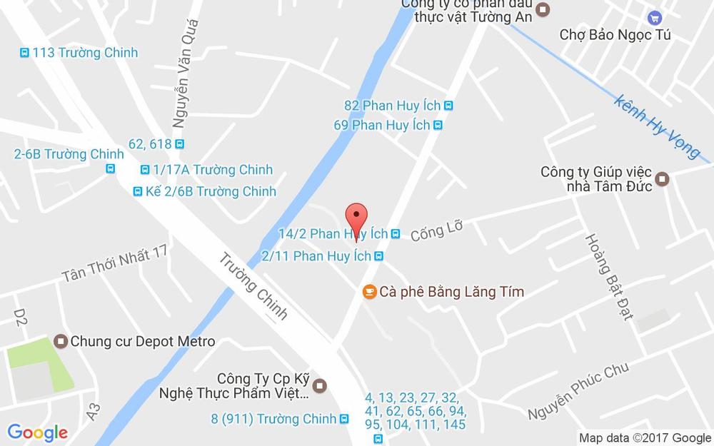 Vị trí bản đồ Aeon Citimart Phan Huy Ích, Phan Huy Ích Quận Tân Bình TP. HCM