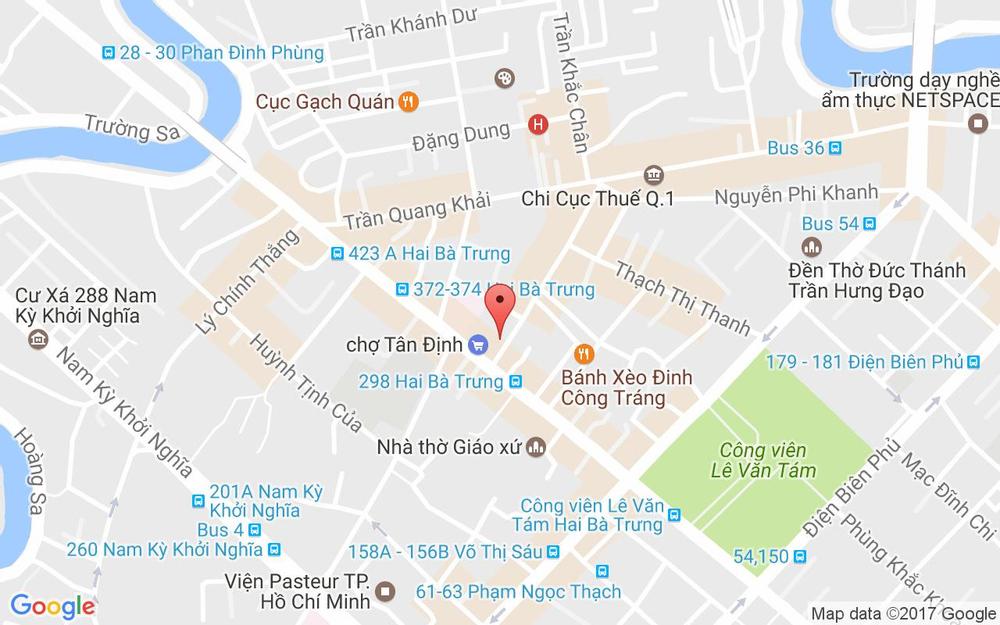Vị trí bản đồ Nguyễn Hữu Cầu, P. Tân Định Quận 1 TP. HCM