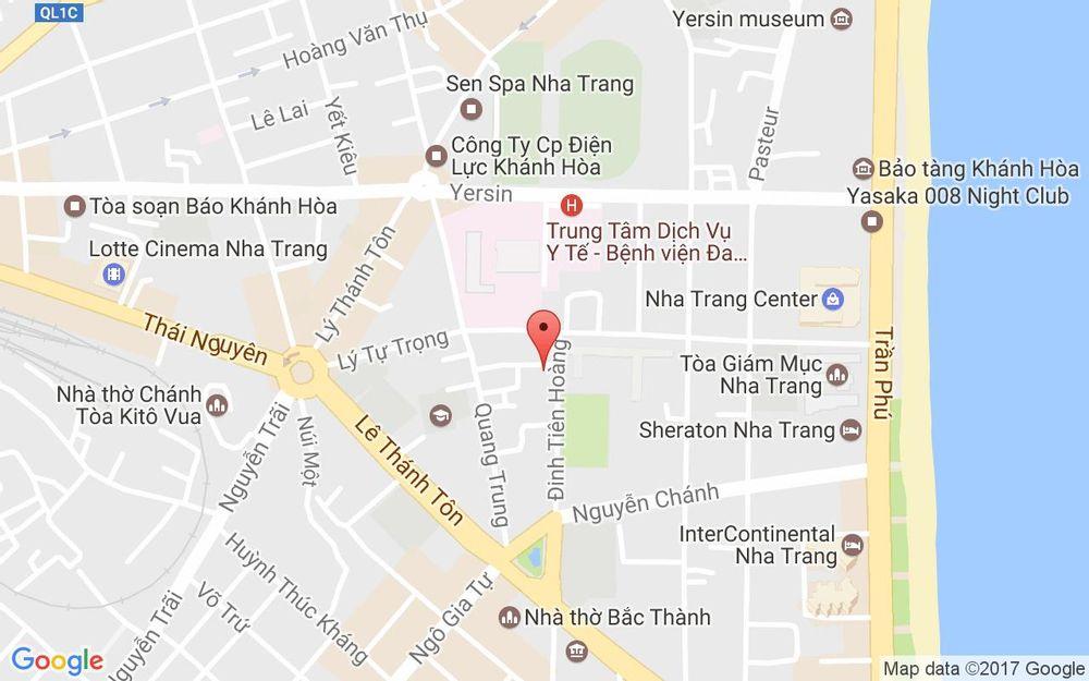 Vị trí bản đồ 10 Đinh Tiên Hoàng, P. Lộc Thọ Tp. Nha Trang Khánh Hoà