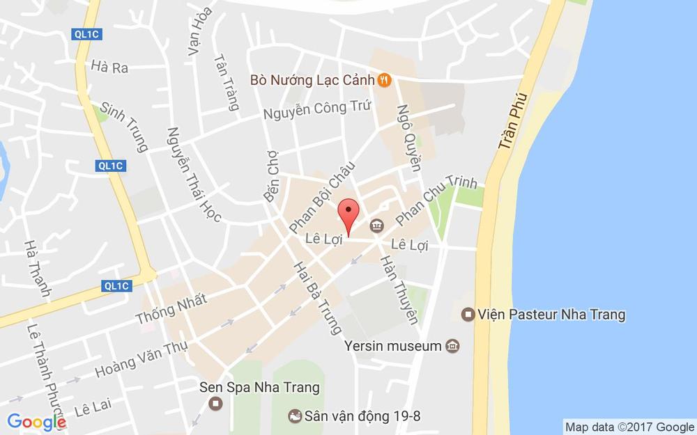 Vị trí bản đồ 19 Lê Lợi Tp. Nha Trang Khánh Hoà