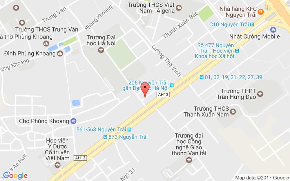 Vị trí bản đồ Ngõ 1 Đại Học Hà Nội, Nguyễn Trãi Quận Thanh Xuân Hà Nội