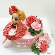 Bánh kem sinh nhật búp bê 18cm
