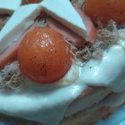 Bánh 2 lớp đấy, phô mai chảy nhìn hấp dẫn ghê gớm :)